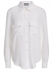 Set |  Silk blouse with pockets Jane | white  | Picture 1