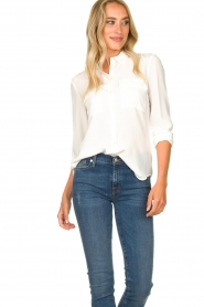 Set |  Silk blouse with pockets Jane | white  | Picture 5