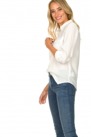 Set |  Silk blouse with pockets Jane | white  | Picture 6
