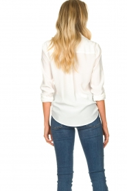 Set |  Silk blouse with pockets Jane | white  | Picture 7