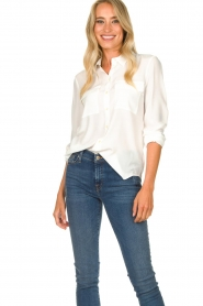 Set |  Silk blouse with pockets Jane | white  | Picture 2