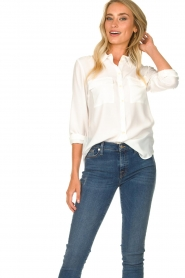 Set |  Silk blouse with pockets Jane | white  | Picture 4