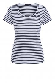 Set |  Striped T-shirt Beau | blue  | Picture 1