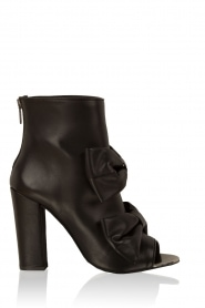Leather peep-toe ankle boot Legano | black