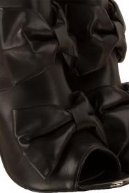 Morobé | Leren peep-toe enkellaars Legano | zwart  | Afbeelding 6