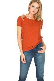 Hipanema   T-shirt Tanguy   bruin    Afbeelding 2