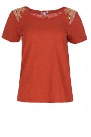 Hipanema   T-shirt Tanguy   bruin    Afbeelding 1