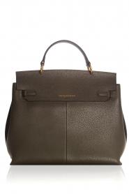Smaak Amsterdam |  Leather handbag Jenna big | green  | Picture 4