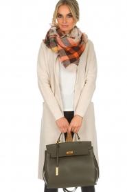 Smaak Amsterdam |  Leather handbag Jenna big | green  | Picture 2