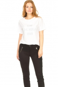 Set |  Basic T-shirt with imprint Vale | white  | Picture 5