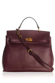 Leren handtas Jenna big | bordeaux