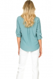 Set |  Silk blouse with pockets Jane | blue  | Picture 7