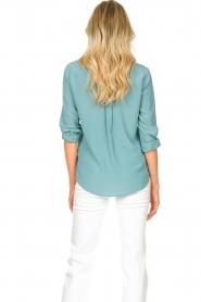 Set | Zijden blouse met zakken Jane | blauw  | Afbeelding 7