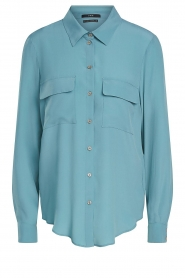 Set |  Silk blouse with pockets Jane | blue