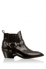 Leather ankle boots Venice | black