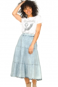 Set |  Basic T-shirt with imprint Madelief | natural  | Picture 5
