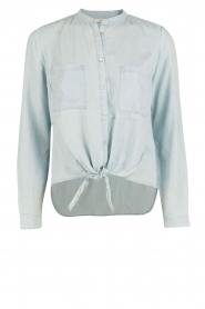 Aaiko | Denim blouse Tassy | blauw