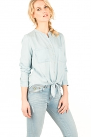 Aaiko | Denim blouse Tassy | blauw  | Afbeelding 3