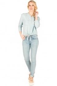Aaiko | Denim blouse Tassy | blauw  | Afbeelding 4