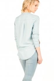 Aaiko | Denim blouse Tassy | blauw  | Afbeelding 5