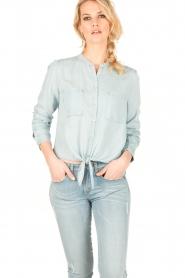 Aaiko | Denim blouse Tassy | blauw  | Afbeelding 2