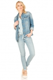 Aaiko | Denim blouse Tassy | blauw  | Afbeelding 6
