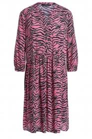 Set |  Zebra print dress Polly | pink  | Picture 1
