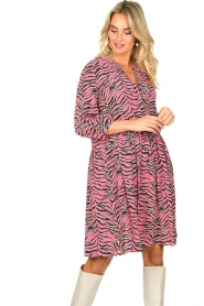 Set |  Zebra print dress Polly | pink  | Picture 2