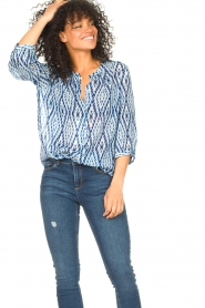 Set |  Blouse with tie dye print Ally | blue  | Picture 2