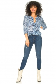 Set |  Blouse with tie dye print Ally | blue  | Picture 3