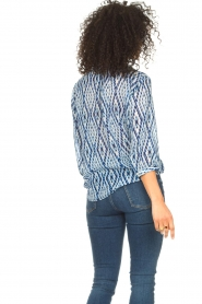 Set |  Blouse with tie dye print Ally | blue  | Picture 7