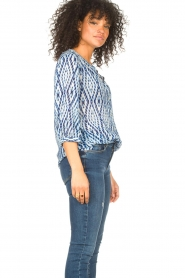 Set |  Blouse with tie dye print Ally | blue  | Picture 6