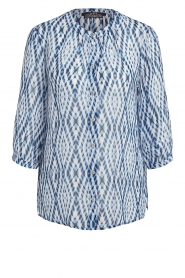 Set |  Blouse with tie dye print Ally | blue  | Picture 1