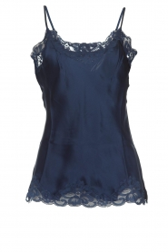 Gold Hawk |  Silk top Elin | navy  | Picture 1