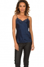 Gold Hawk |  Silk top Elin | navy  | Picture 2