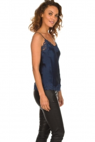 Gold Hawk |  Silk top Elin | navy  | Picture 3