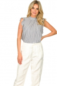 Set |  Striped top Honey | blue  | Picture 2