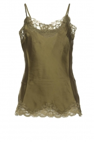 Gold hawk |  Silk top Elin | green  | Picture 1