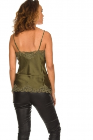 Gold hawk |  Silk top Elin | green  | Picture 4
