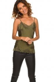 Gold hawk |  Silk top Elin | green  | Picture 2