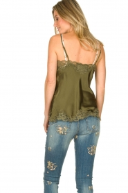 Gold Hawk |  Silk top Elin | green  | Picture 6