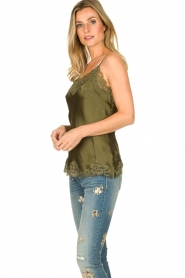 Gold Hawk |  Silk top Elin | green  | Picture 5