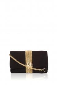 Hipanema |  Suede shoulder bag Starlet | black  | Picture 1