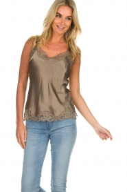 Gold hawk |  Silk top Elin | grey  | Picture 2