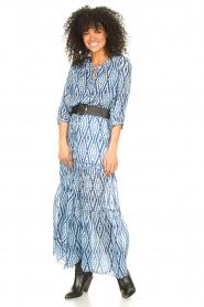 Set |  Midi skirt with tie dye print Ysa | blue  | Picture 5
