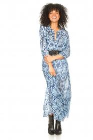 Set |  Midi skirt with tie dye print Ysa | blue  | Picture 2
