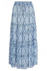 Set |  Midi skirt with tie dye print Ysa | blue  | Picture 1