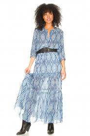 Set    Midi skirt with tie dye print Ysa   blue    Picture 4