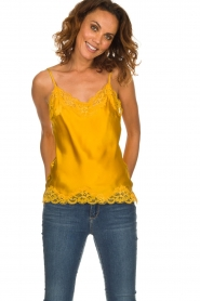 Gold hawk | Silk top Elin | yellow  | Picture 3