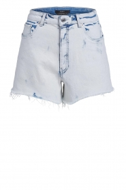 Set |  Denim short with washed print Bente | blue  | Picture 1